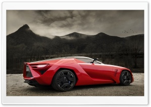 Red Supercar HD Wide Wallpaper for Widescreen