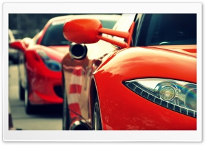 Red Supercars HD Wide Wallpaper for Widescreen
