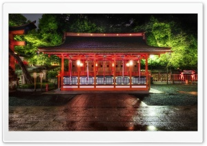 Red Temple In Kyoto HD Wide Wallpaper for 4K UHD Widescreen desktop & smartphone