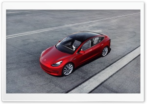 Red Tesla Model 3 Electric Car Performance Ultra HD Wallpaper for 4K UHD Widescreen desktop, tablet & smartphone