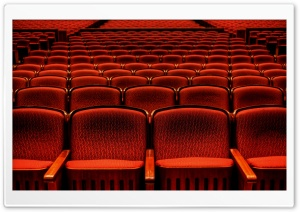 Red Theater Seats HD Wide Wallpaper for Widescreen