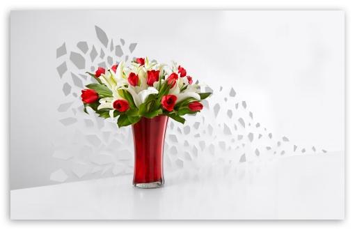 Red Tulips and White Lilies Flowers  In A Vase HD wallpaper for Wide 16:10 5:3 Widescreen WHXGA WQXGA WUXGA WXGA WGA ; HD 16:9 High Definition WQHD QWXGA 1080p 900p 720p QHD nHD ; UHD 16:9 WQHD QWXGA 1080p 900p 720p QHD nHD ; Standard 4:3 5:4 3:2 Fullscreen UXGA XGA SVGA QSXGA SXGA DVGA HVGA HQVGA devices ( Apple PowerBook G4 iPhone 4 3G 3GS iPod Touch ) ; Smartphone 3:2 5:3 DVGA HVGA HQVGA devices ( Apple PowerBook G4 iPhone 4 3G 3GS iPod Touch ) WGA ; Tablet 1:1 ; iPad 1/2/Mini ; Mobile 4:3 5:3 3:2 16:9 5:4 - UXGA XGA SVGA WGA DVGA HVGA HQVGA devices ( Apple PowerBook G4 iPhone 4 3G 3GS iPod Touch ) WQHD QWXGA 1080p 900p 720p QHD nHD QSXGA SXGA ; Dual 16:10 5:3 16:9 4:3 5:4 WHXGA WQXGA WUXGA WXGA WGA WQHD QWXGA 1080p 900p 720p QHD nHD UXGA XGA SVGA QSXGA SXGA ;