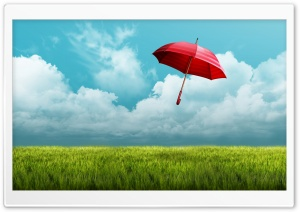 Red Umbrella HD Wide Wallpaper for Widescreen