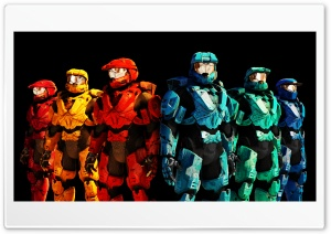 Red vs Blue HD Wide Wallpaper for Widescreen