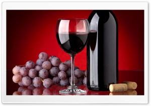 Red Wine Bottle HD Wide Wallpaper for Widescreen