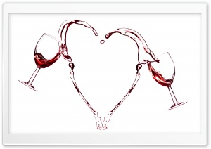 Red Wine Heart Ultra HD Wallpaper for 4K UHD Widescreen desktop, tablet & smartphone
