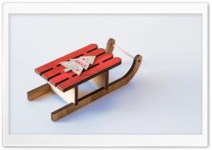 Red Wooden Sleigh Ultra HD Wallpaper for 4K UHD Widescreen desktop, tablet & smartphone