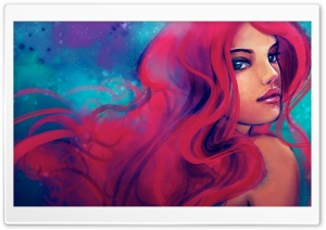 Redhead Girl Painting HD Wide Wallpaper for 4K UHD Widescreen desktop & smartphone