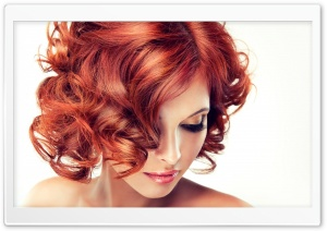 Redhead Model Makeup HD Wide Wallpaper for Widescreen