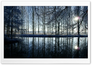 Reflection In Kromme Rijn River HD Wide Wallpaper for Widescreen