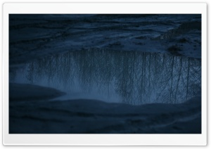 Reflections In A Mud Puddle HD Wide Wallpaper for Widescreen