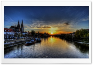 Regensburg Sunset HD Wide Wallpaper for Widescreen