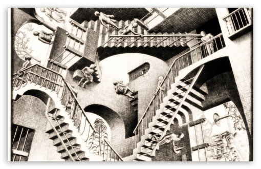 Download Wallpapers, Download 2560x1440 stairways mc escher ...