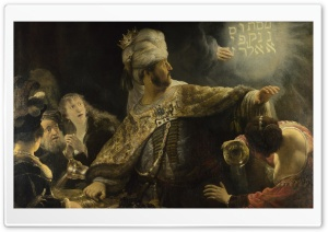 Rembrandt Feast Of Belshazzar HD Wide Wallpaper for Widescreen