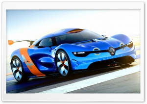 Renault Alpine Concept Car HD Wide Wallpaper for Widescreen