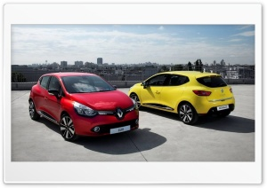 Renault Clio 2013 Red and Yellow Ultra HD Wallpaper for 4K UHD Widescreen desktop, tablet & smartphone