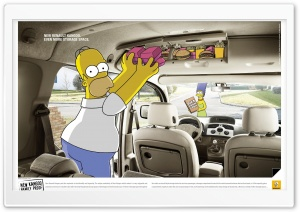 Renault Kangoo Simpsons Advertising HD Wide Wallpaper for Widescreen