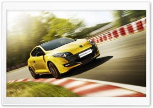 Renault Megane RS Yellow HD Wide Wallpaper for Widescreen