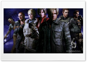 Resident Evil 6 Characters HD Wide Wallpaper for Widescreen
