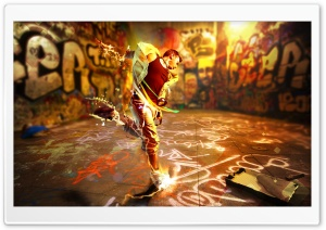 Resident Evil Dance Graffiti Art HD Wide Wallpaper for Widescreen