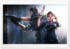 Resident Evil Revelations Jill And Chris HD Wide Wallpaper for Widescreen