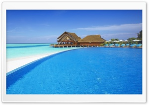 Resort Swimming Pool HD Wide Wallpaper for Widescreen