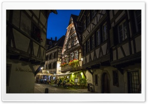 Restaurant in Strasbourg HD Wide Wallpaper for Widescreen