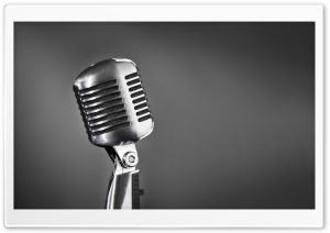 Retro Microphone HD Wide Wallpaper for Widescreen