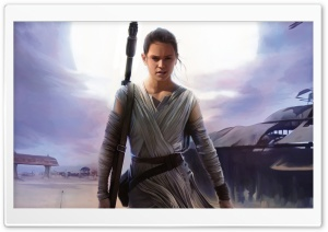 Rey Star Wars The Force HD Wide Wallpaper for Widescreen