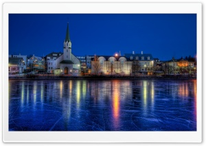 Reykjavik Night HD Wide Wallpaper for Widescreen