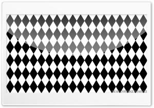 Rhombus Black and White Ultra HD Wallpaper for 4K UHD Widescreen desktop, tablet & smartphone