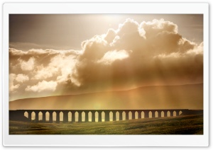 Ribblehead Viaduct Landscape, Yorkshire, England, United Kingdom HD Wide Wallpaper for 4K UHD Widescreen desktop & smartphone
