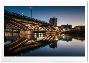 Rich Street Bridge, Columbus, Ohio HD Wide Wallpaper for 4K UHD Widescreen desktop & smartphone