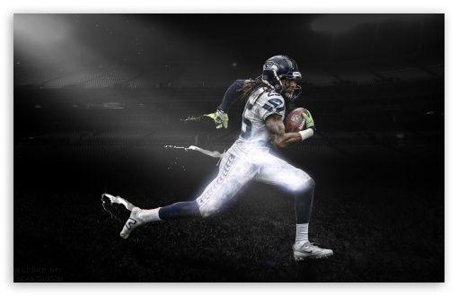 Download Richard Sherman Dark Stadium UltraHD Wallpaper