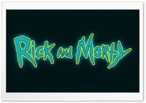Rick and Morty Logo Ultra HD Wallpaper for 4K UHD Widescreen desktop, tablet & smartphone