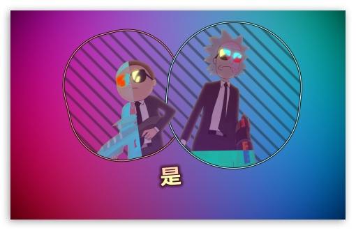 Rick Morty Retrowave Ultra Hd Desktop Background Wallpaper