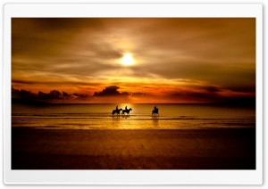 Riders On The Beach HD Wide Wallpaper for Widescreen