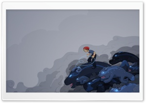 Riding Illustration HD Wide Wallpaper for Widescreen