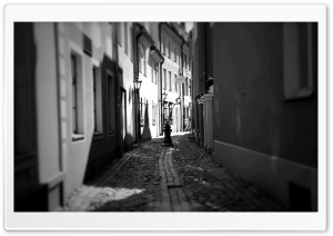 Riga Street HD Wide Wallpaper for Widescreen