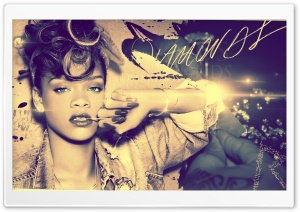 Rihanna-Diamonds HD Wide Wallpaper for Widescreen