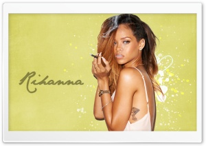 Rihanna Smoking 2013 HD Wide Wallpaper for Widescreen