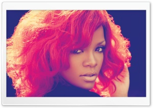 Rihanna With Red Hair HD Wide Wallpaper for Widescreen
