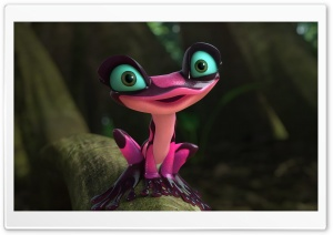 Rio 2 2014 Gabi the Pink Frog HD Wide Wallpaper for 4K UHD Widescreen desktop & smartphone