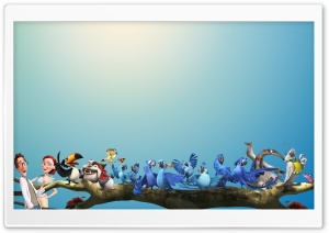Rio 2 All Characters HD Wide Wallpaper for Widescreen