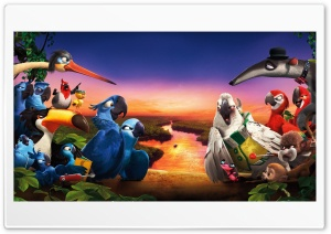Rio 2 Amazon Rainforest Journey HD Wide Wallpaper for Widescreen