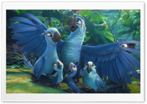 Rio 2 Blu And Jewel's Kids HD Wide Wallpaper for Widescreen