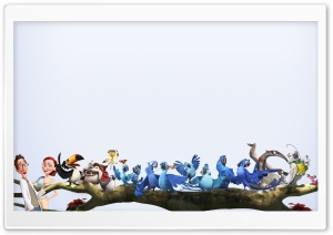 Rio 2 Characters HD Wide Wallpaper for Widescreen