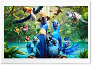 Rio 2 Movie HD Wide Wallpaper for Widescreen