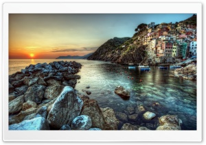 Riomaggiore Italy HD Wide Wallpaper for 4K UHD Widescreen desktop & smartphone