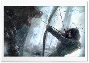 Rise Of The Tomb Raider Bear HD Wide Wallpaper for 4K UHD Widescreen desktop & smartphone